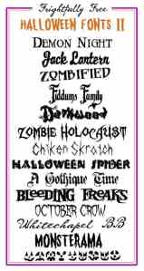 Frightfully Free Halloween Fonts II