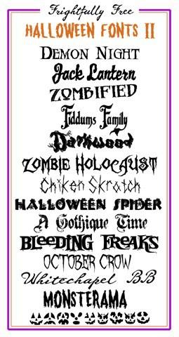 Frightfully free halloween fonts 2 copy