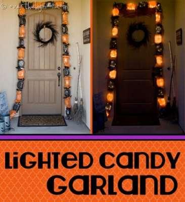 Lighted Halloween Candy Garland