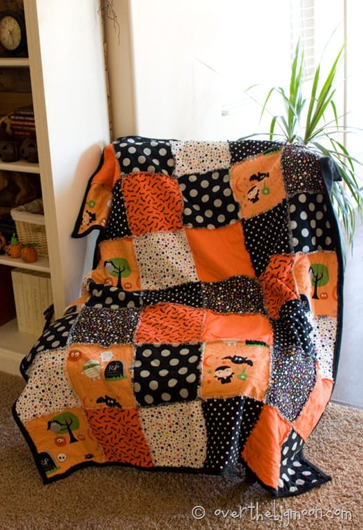 Simplified Rag Blanket with Fleece Backing