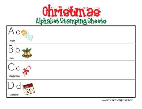 christmasstampingsheet