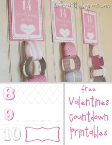 Valentines Countdown Printable
