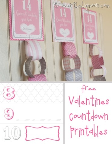 Valentines countdown button
