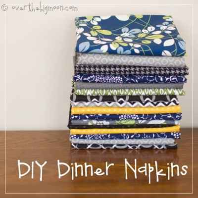 Make your Own Dinner Napkins for Cheap