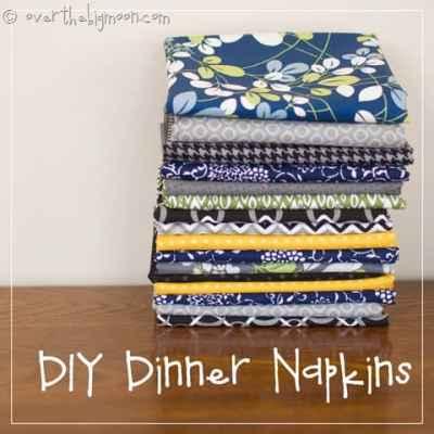 Make your Own Dinner Napkins for Cheap