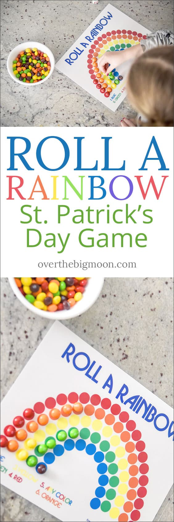 Roll A Rainbow - St. Patrick's Day Game. Kids love this game, it's so simple and an easy activity to play on St. Patricks Day or to practice colors!