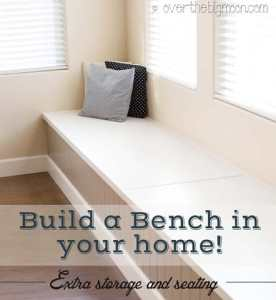 DIY Storage and Seating Bench
