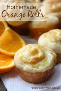 Homemade Orange Rolls | Over the Big Moon