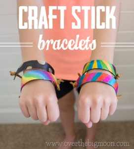 Craft Stick Bracelets