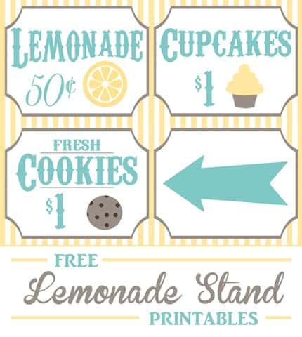 image regarding Lemonade Sign Printable referred to as Cost-free Lemonade Stand Printables