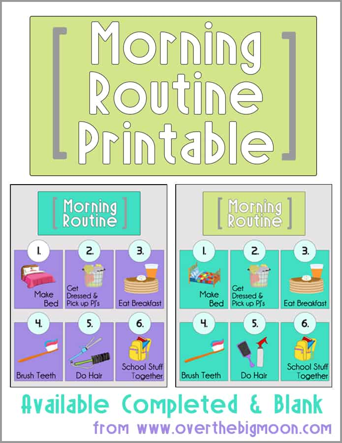 image about Morning Routine Checklist Printable identified as Early morning Timetable Printables