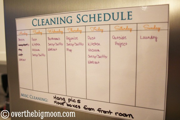 cleaning-schedule