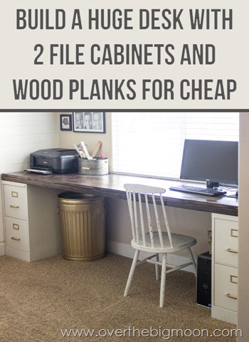 Come Learn How To Build A Huge Desk With 2 File Cabinets And Some Simple  Wood