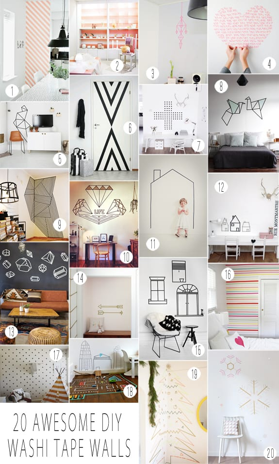 Washi Tape Wall Decals  Over The Big Moon