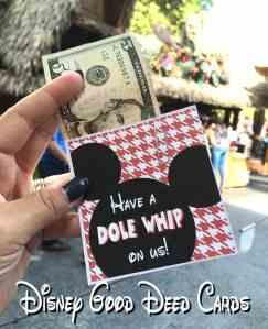 Disneyland Good Deed Cards