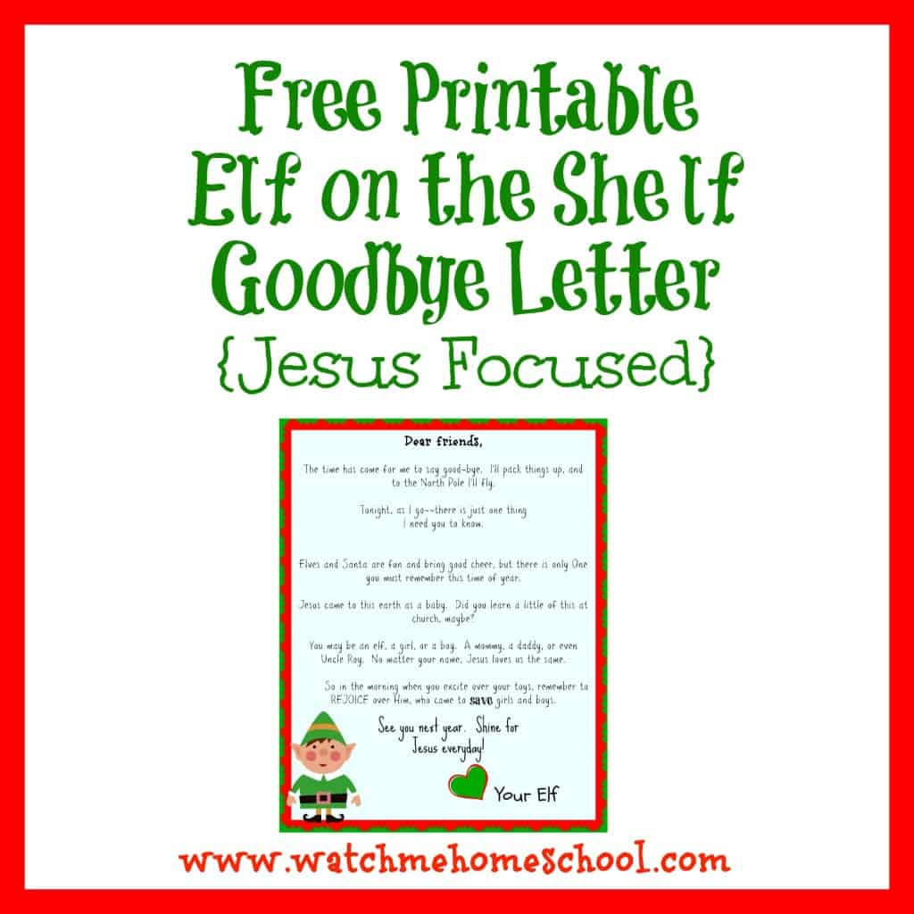 Search Results For Elf On The Shelf Farewell Letter