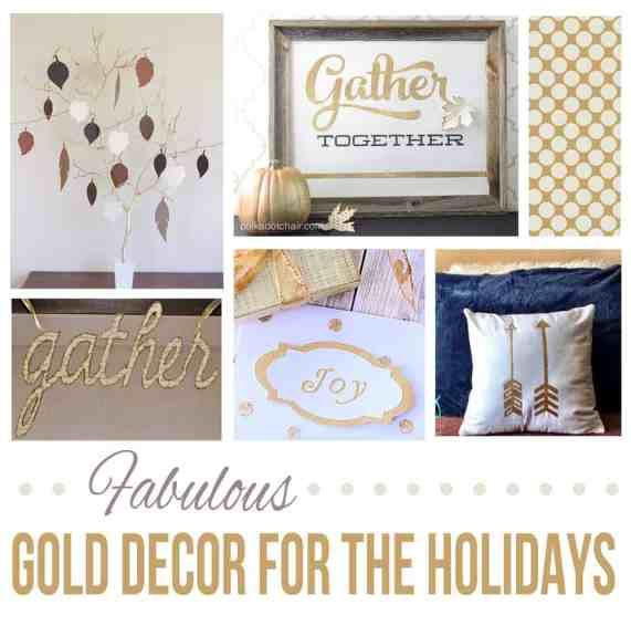gold holiday decor