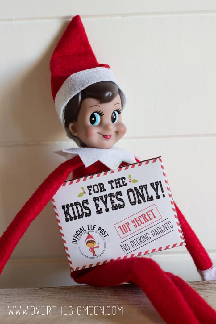 Elf on the Shelf Printable Mission Cards - such a fun way to bring joy this Holiday season! From overthebigmoon.com!