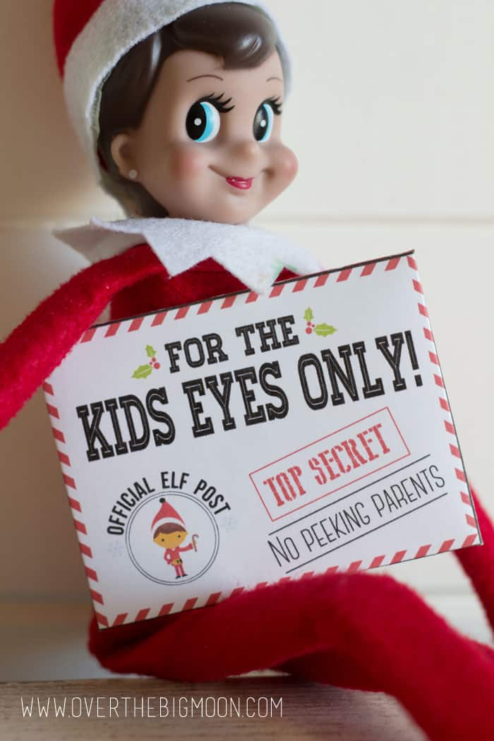 graphic relating to Elf on the Shelf Printable titled Elf upon the Shelf Mission Not possible Envelopes and Playing cards