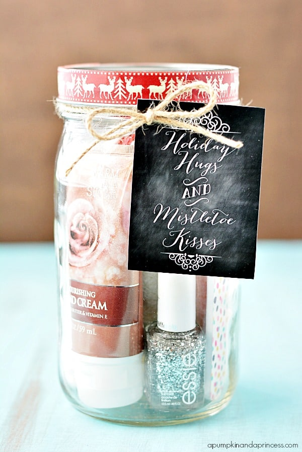 ADORABLE-Pedi-in-a-Jar-Gift-Idea-perfect-for-Christmas + other fun Teacher Gift ideas! From overthebigmoon.com!