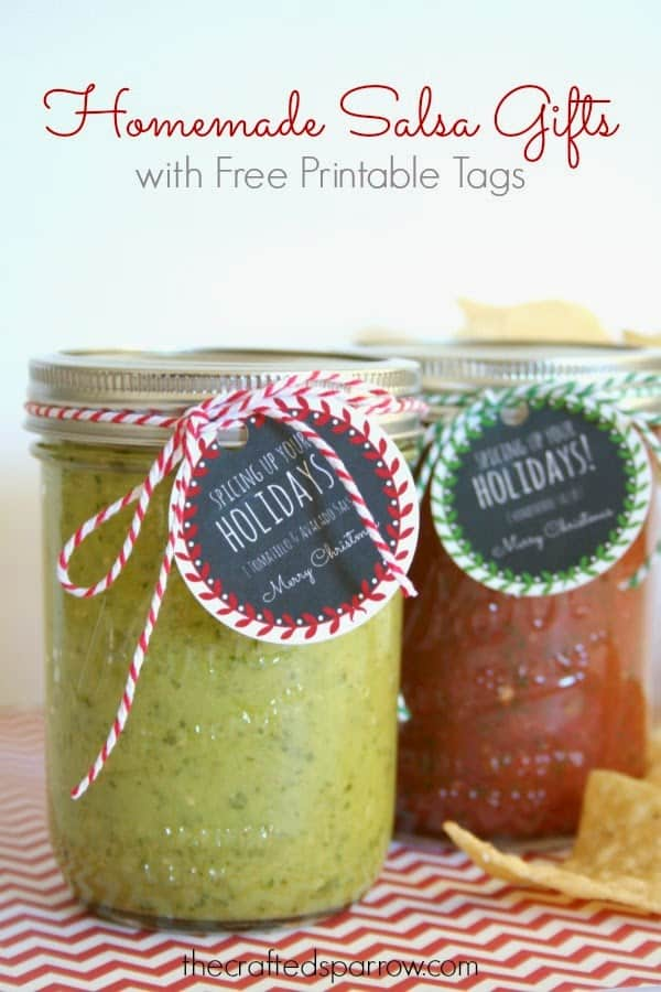 Homemade Salsa Gift Idea + Tags!