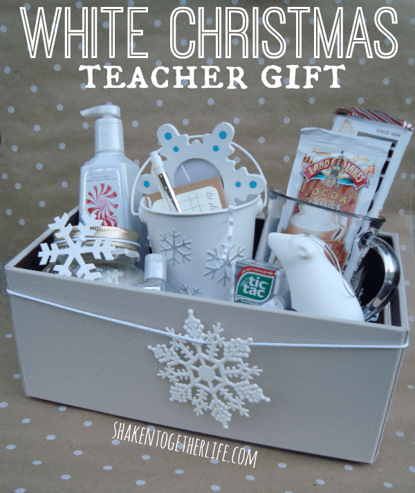 White Christmas Teacher Gift Idea + other fun gift ideas! All at overthebigmoon.com!