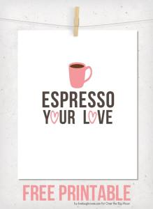 Coffee Valentines Printable