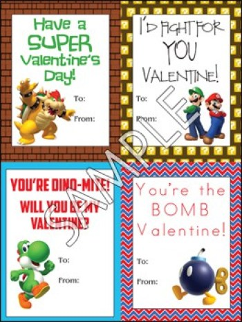 Printable Super Mario Valentine's | overthebigmoon.com