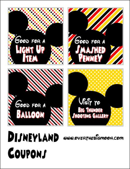 photo about Disneyland Printable Coupons named Disneyland Coupon Printables - More than the Significant Moon