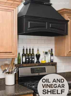 DIY Oil and Vinegar Shelf