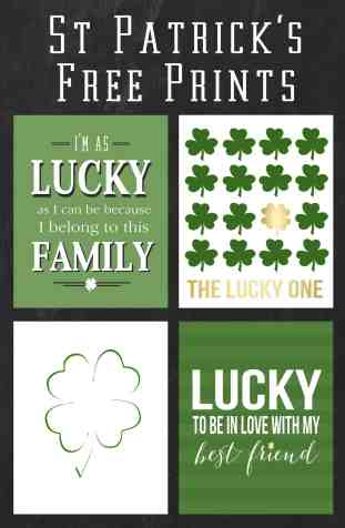 st patricks prints  button
