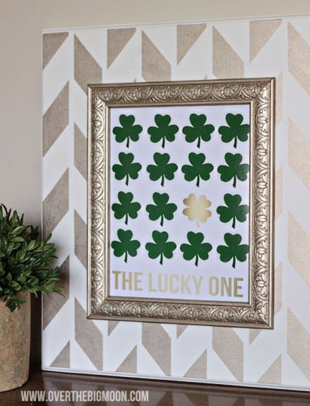 The Lucky One - Green and Gold Free St. Patrick's Day Printable via Over The Big Moon