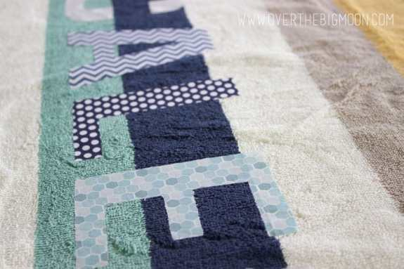 Applique towels7