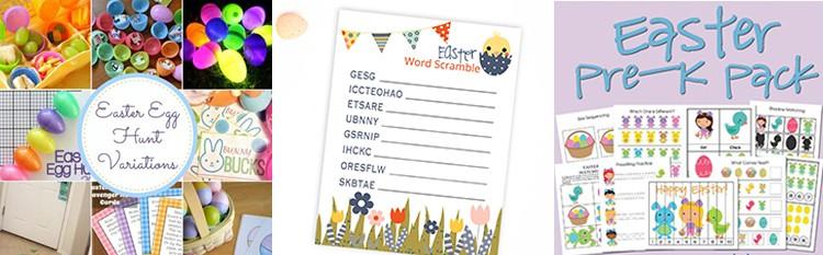 Easter Egg Kids Activities from overthebigmoon.com!