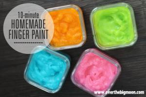 10 Minute Homemade Finger Paint
