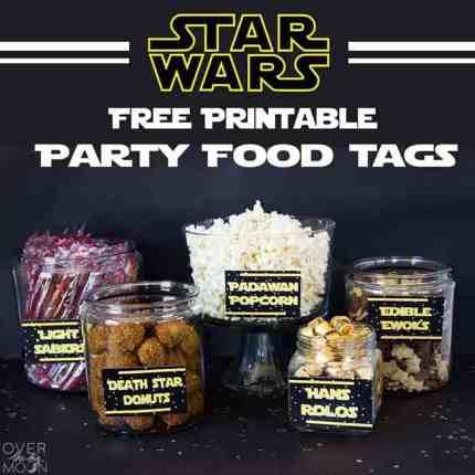 star wars food printables