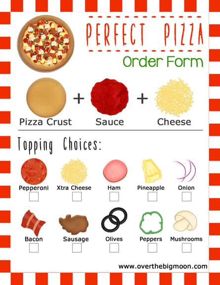 photograph about Printable Pizza identify Online video and Pizza Household Evening Strategy w/ Printable Get Types