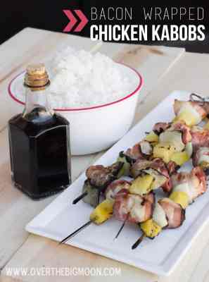 Bacon Wrapped Chicken Kabobs