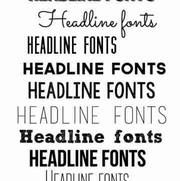 Great Headline Fonts | Over the Big Moon