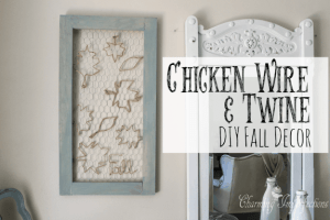 Make this simple piece of decor for your fall festivities! It gives the perfect rustic touch!