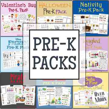 Pre-K Packs for ages 2-5 full of learning and fun!