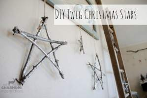 DIY Twig Christmas Stars