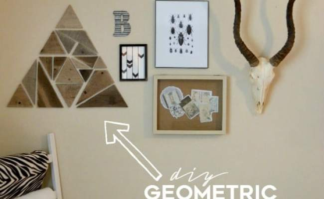 Diy Geometric Wooden Wall Decor Over The Big Moon