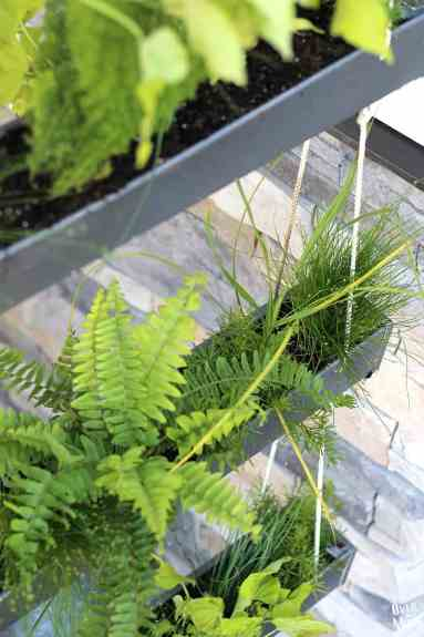 DIY Hanging Gutter Planter - such a fun, easy and inexpensive project that even a beginner can make!   www.overthebigmoon.com