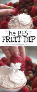 Pictures of a fruit dip and fruit!