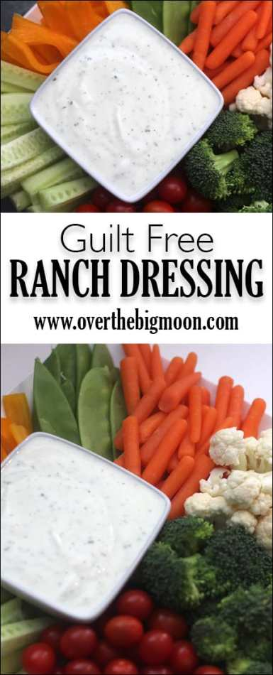No Guilt Ranch Dressing - you won't even be able to tell the difference to between this and store bought! From www.overthebigmoon.com!