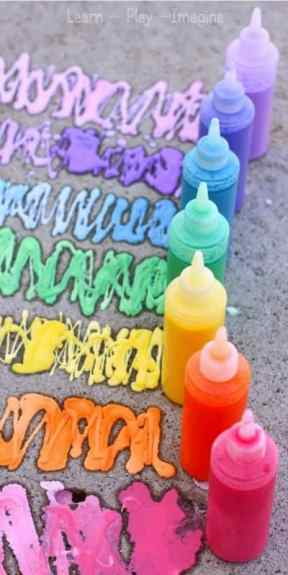 Rainbow Erupting Sidewalk Chalk Paint (2)