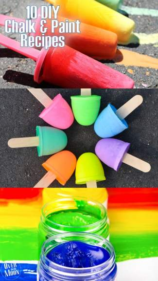 10+ DIY Chalk and Paint Recipes that are super easy to make and your kids will love! From www.overthebigmoon.com!