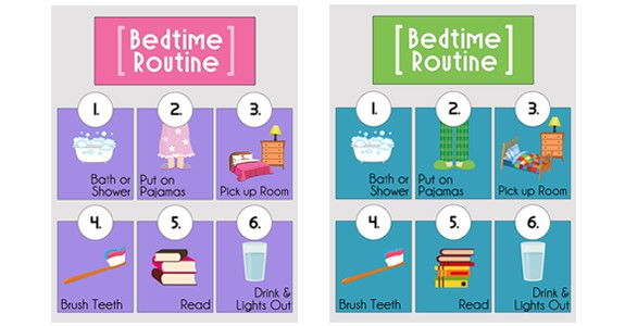 image about Bedtime Routine Chart Printable known as Bedtime Agenda Printables In excess of The Substantial Moon