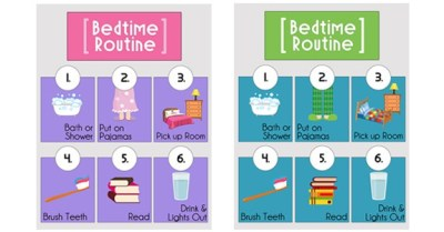 Bedtime Routine Printables from www.overthebigmoon.com!